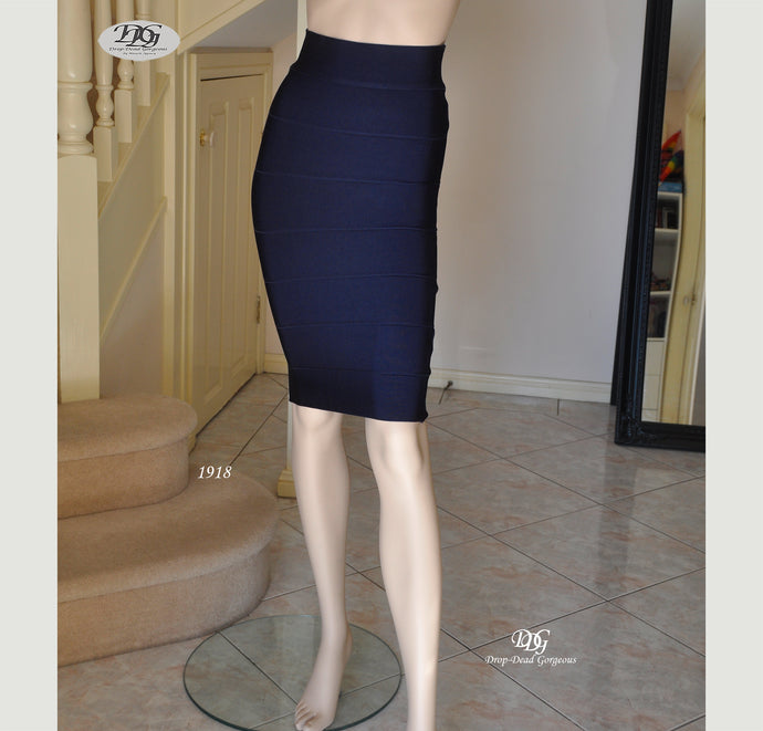 Bandage Bodycon Skirt in Navy Style 1918 Size 8