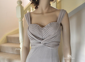 Sweetheart Neckline Top with Wide Straps Top Style 1920 in Taupe Size 8