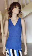 Load image into Gallery viewer, V Neck Panelling Detailed Top in Denim Blue Style 1945 Size 8