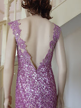 Load image into Gallery viewer, S/less Mermaid Beaded Lace Gown in Liliac Style 1016 by Miracle Agency