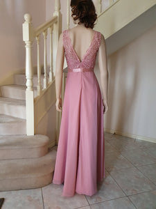 S/less Evening Dress in Dusty Pink Style 3329 by Miracle Agency