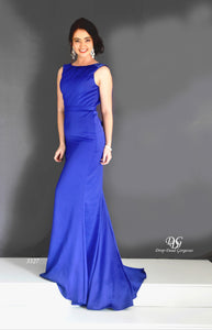 Lush, Liquid Sleeveless Formal Gown in Royal Blue Style 3327 by Miracle Agency