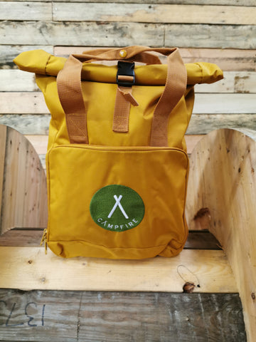 Roll Top Backpack - Mustard