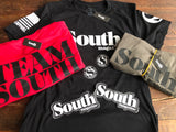 Team South t-shirts now available. Printed by Nine Line Apparel with premium ring spun cotton material. Includes South sticker.