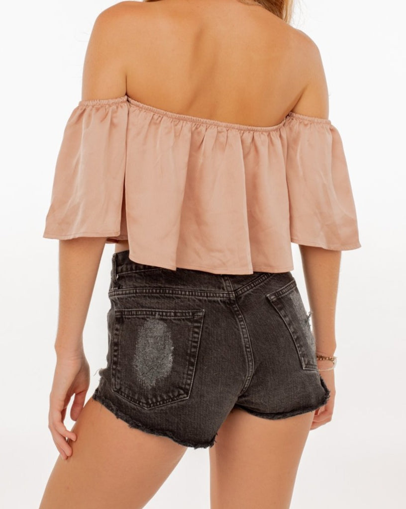 Brandy Melville ripped Jeans shorts Black