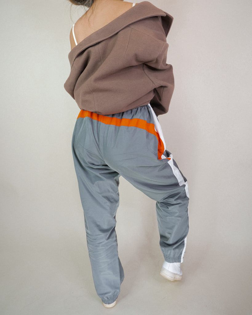 Adidas Grey 'n Orange 80s Track Pants
