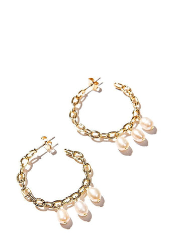 EXCLAiM Pearl Hoop Earrings - EXCLAiM