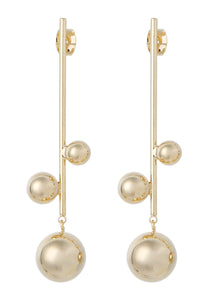 EXCLAiM Long Ball Earrings Gold