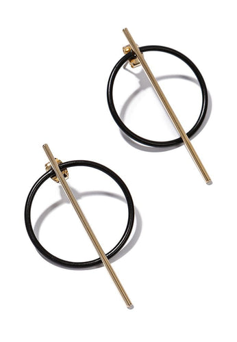 EXCLAiM Stud Futuristic Earrings