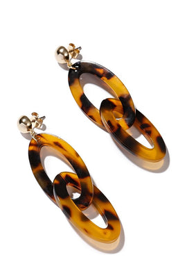 EXCLAIM Acrylic Drop Leopard Earrings - EXCLAiM