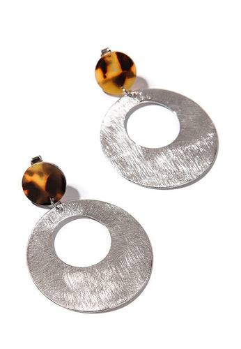EXCLAIM Acrylic Hoop Leopard Earrings - EXCLAiM