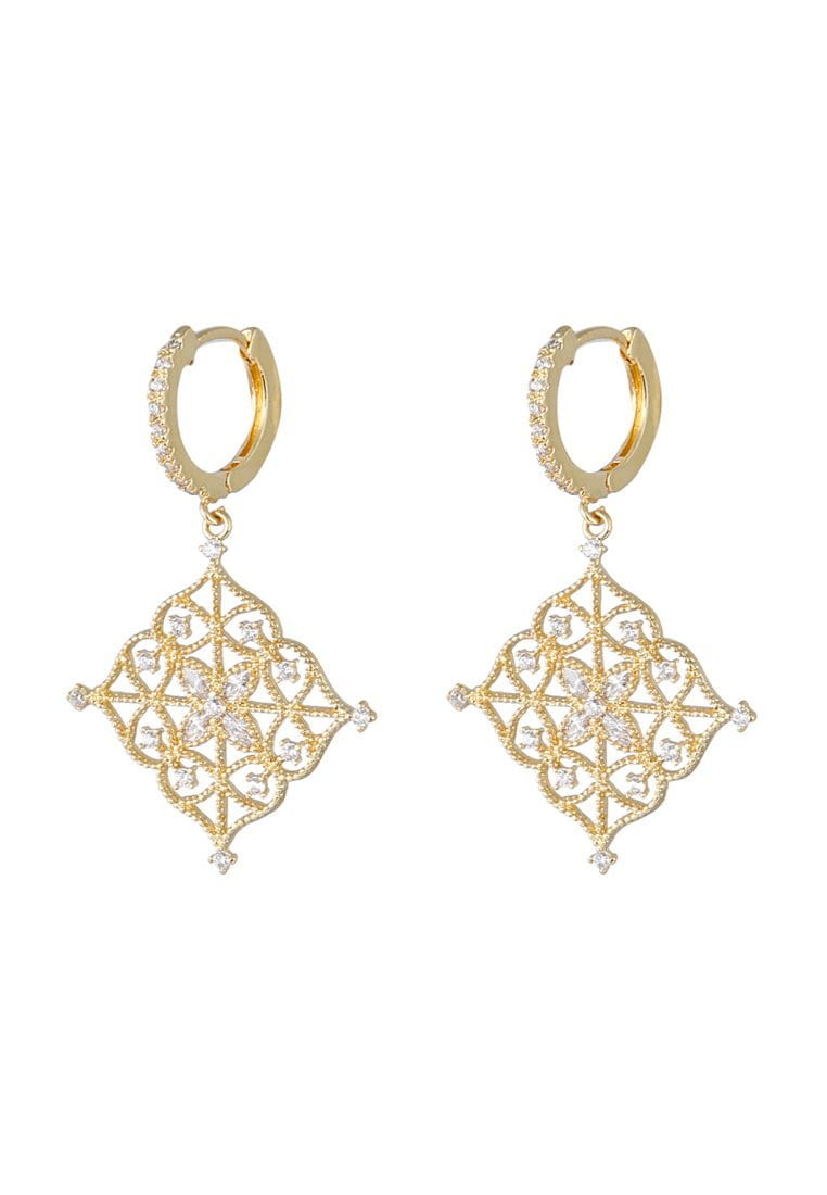 EXCLAiM Openwork Earrings with Crystals - EXCLAiM