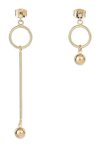 EXCLAiM Long Asymmetrical Ball Earrings - EXCLAiM
