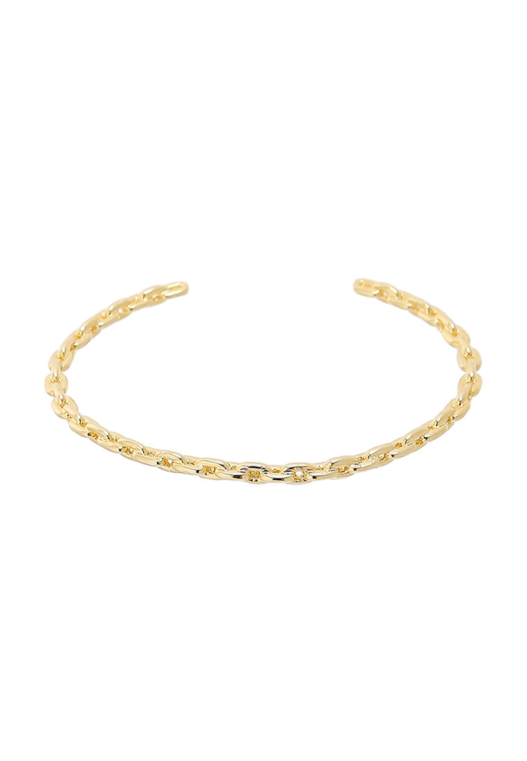 EXCLAiM Thin Chain Bangle Bracelet Gold