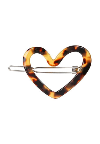 EXCLAiM Heart-Shaped Acrylic Hair Pin - EXCLAiM