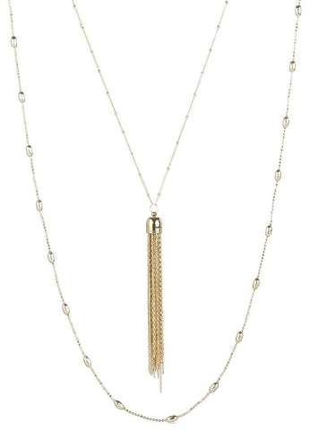 EXCLAiM Long Layered Tassel Necklace - EXCLAiM