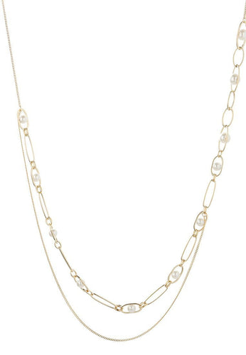 EXCLAiM Long Layered Pearl Necklace - EXCLAiM