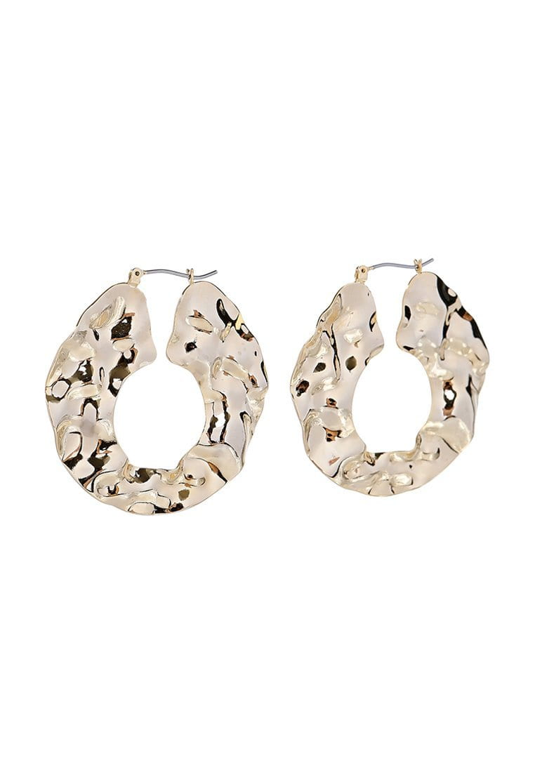 EXCLAiM Crumpled Metal Hoop Earrings - EXCLAiM
