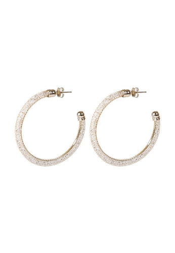 EXCLAiM Hoop Earrings with Crystals - EXCLAiM