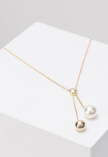 Load image into Gallery viewer, EXCLAiM Long Ball and Pearl Necklace Gold
