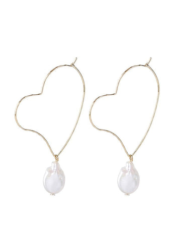 EXCLAiM Heart-Shaped Pearl Earrings - EXCLAiM