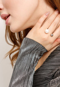 EXCLAiM Ball and Pearl Ring - EXCLAiM
