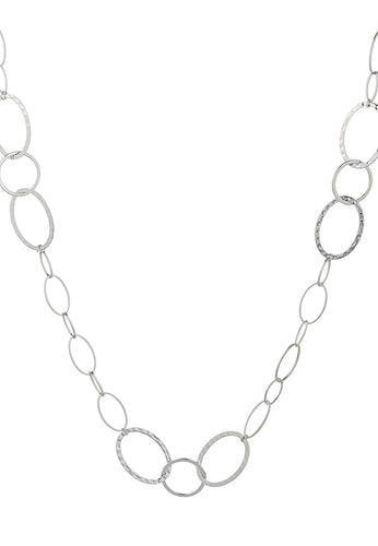 EXCLAiM Long Chain Necklace Silver