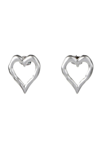 EXCLAiM Heart-Shaped Stud Earrings - EXCLAiM