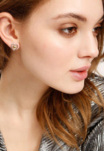 Load image into Gallery viewer, EXCLAiM Heart-Shaped Stud Earrings - EXCLAiM