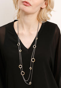 EXCLAiM Long Layered Chain Necklace