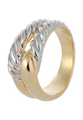 EXCLAiM Textured Metal Ring