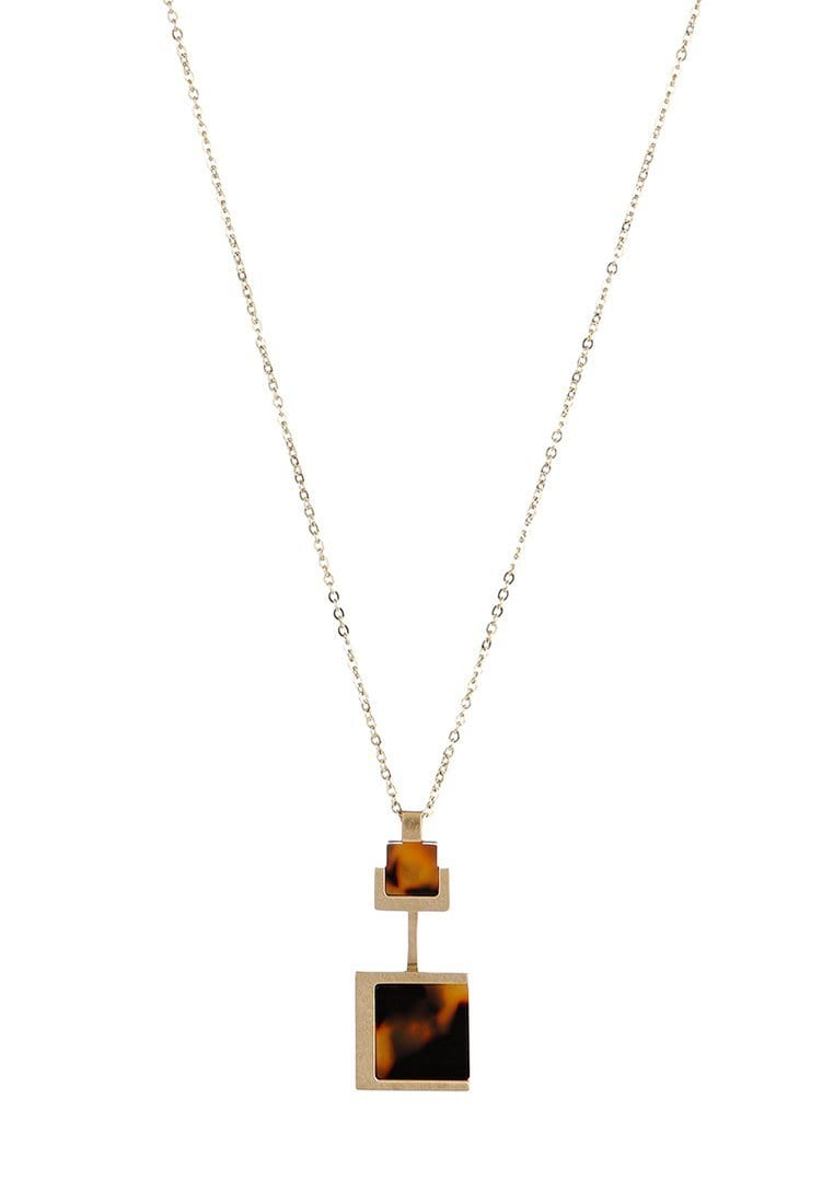 EXCLAiM Acrylic Square Pendant Necklace - EXCLAiM