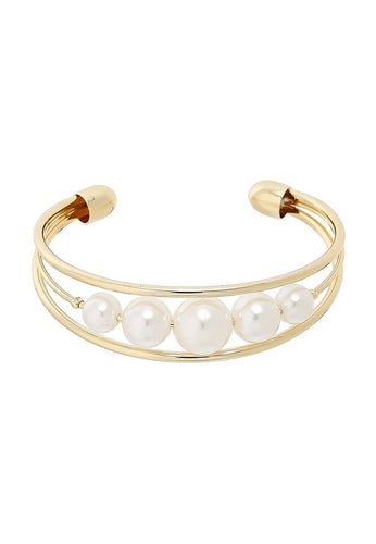 EXCLAiM Pearl Bangle Bracelet - EXCLAiM