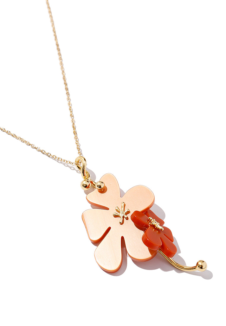 EXCLAiM Acrylic Flower Pendant Necklace