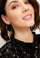 Load image into Gallery viewer, EXCLAiM Hoop Statement Earrings