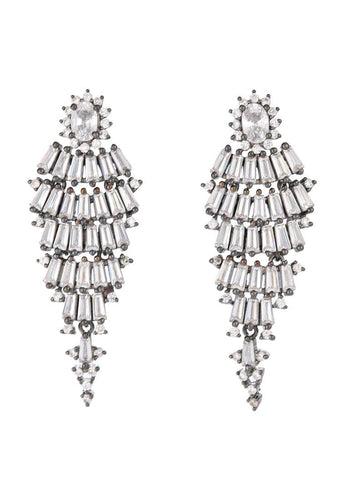 EXCLAiM Black Rhodium Chandelier Earrings - EXCLAiM