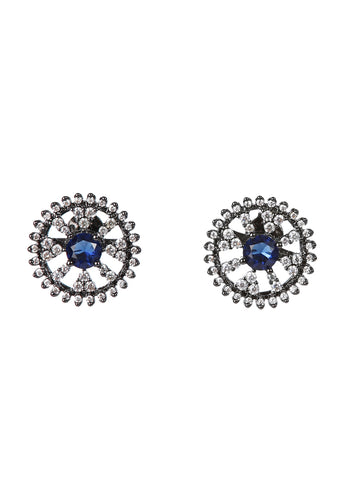 EXCLAiM Blue Crystal Stud Earrings