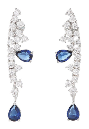 EXCLAiM Blue Crystal Pendant Earrings - EXCLAiM