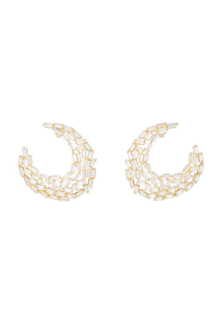 EXCLAiM Gold-Tone Crystal Earrings - EXCLAiM