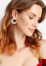 Load image into Gallery viewer, EXCLAiM Gold-Tone Crystal Earrings - EXCLAiM