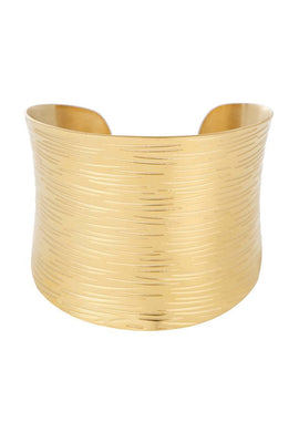EXCLAiM Wide Textured Bangle Bracelet