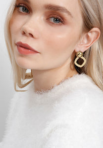 EXCLAiM Geometric Earrings Gold