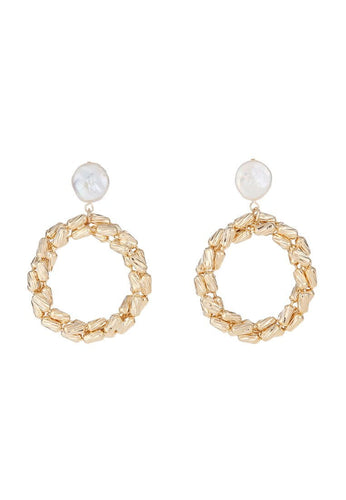 EXCLAiM Hoop Earrings with Pearls - EXCLAiM