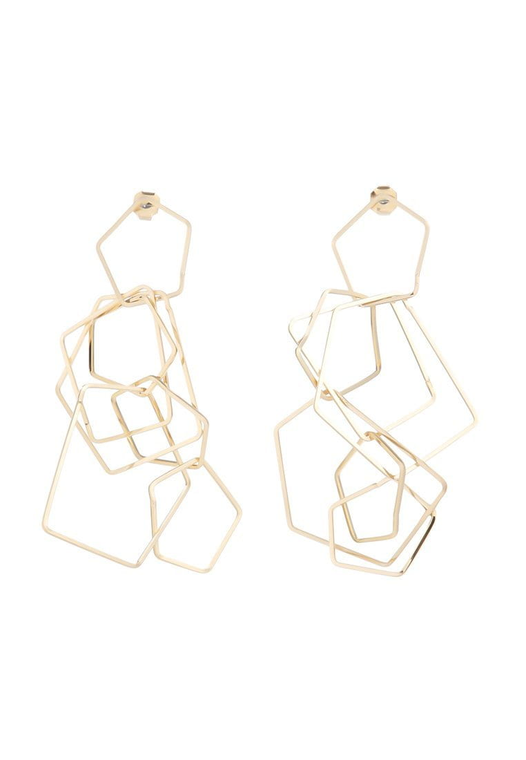 EXCLAiM Long Chain Geometric Earrings - EXCLAiM