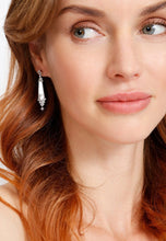 Load image into Gallery viewer, EXCLAiM Long Irregular Mother-of-Pearl Pendant Earrings - EXCLAiM