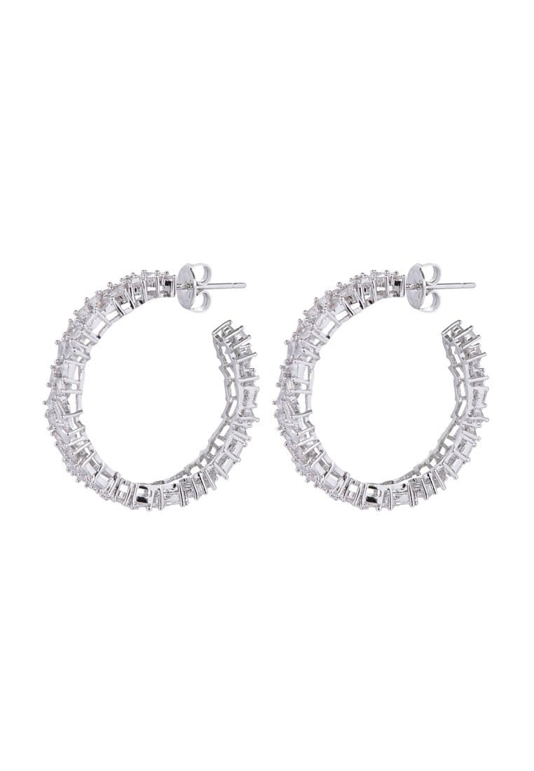 EXCLAiM Crystal Hoop Earrings - EXCLAiM