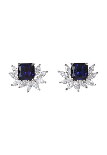 EXCLAiM Blue Crystal Stud Earrings - EXCLAiM