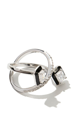 EXCLAiM Crystal Ring