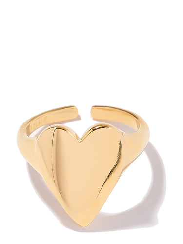 EXCLAiM Heart Ring Gold