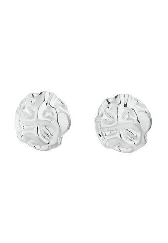 EXCLAiM Crumpled Metal Earrings Silver